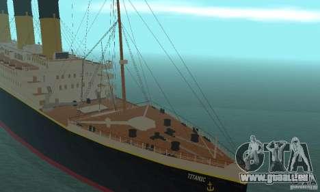 RMS Titanic pour GTA San Andreas vue arrière