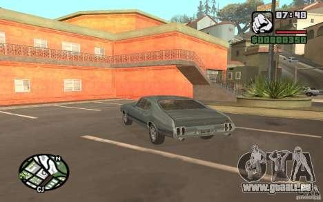 Oldsmobile 442 pour GTA San Andreas laissé vue