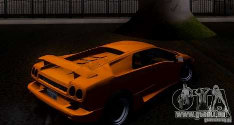 Lamborghini Diablo VTTT Black Revel pour GTA San Andreas vue arrière