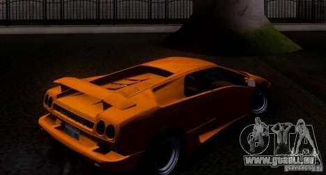 Lamborghini Diablo VTTT Black Revel für GTA San Andreas Rückansicht