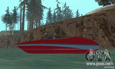 Speedboat pour GTA San Andreas vue de droite