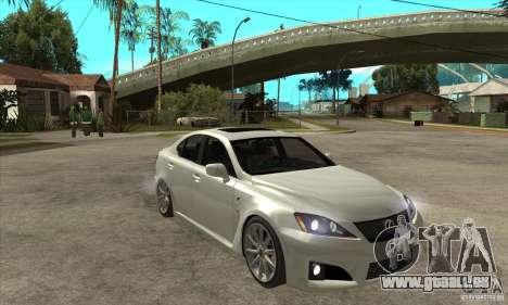 Lexus IS F 2009 pour GTA San Andreas vue de côté