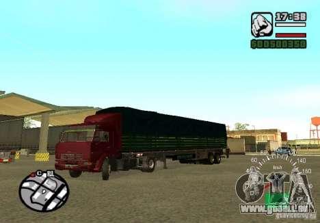 Kamaz 5460 für GTA San Andreas Rückansicht