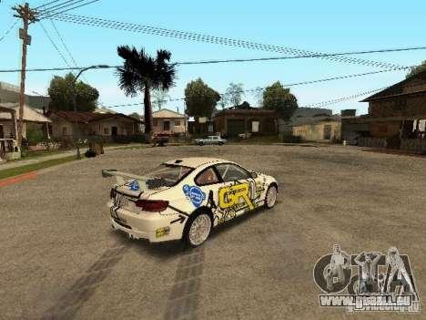 BMW M3 E92 Grip King pour GTA San Andreas sur la vue arrière gauche