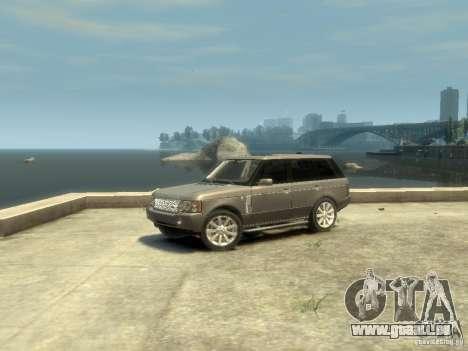 Range Rover Supercharged 2008 pour GTA 4 est une gauche