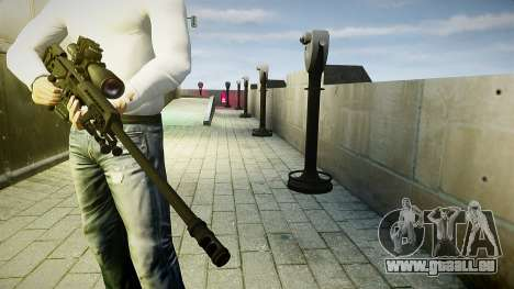 Barrett 98B (Sniper) für GTA 4 dritte Screenshot