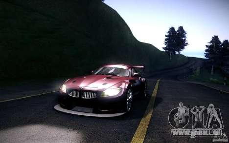 BMW Z4 E89 GT3 2010 pour GTA San Andreas laissé vue