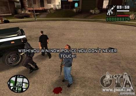 Gewonnene Freiheit von Polizei 1.0 für GTA San Andreas dritten Screenshot
