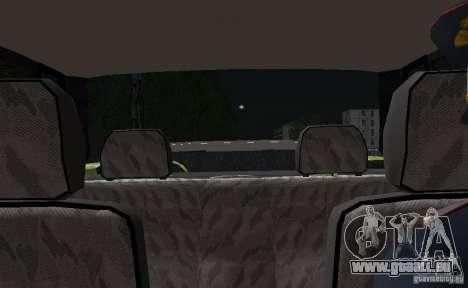 VAZ 2115 Polizei DPS für GTA San Andreas obere Ansicht