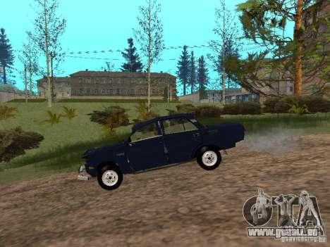Moskvich en lambeaux pour GTA San Andreas sur la vue arrière gauche