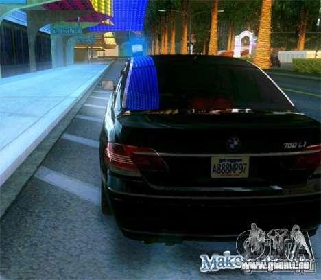 BMW 760Li (e66) SE pour GTA San Andreas vue de côté