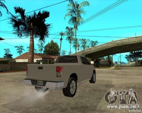 2008 Toyota Tundra für GTA San Andreas zurück linke Ansicht