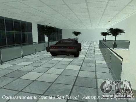 Showroom de travail à San Fierro v1 pour GTA San Andreas troisième écran