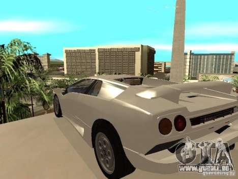 Lamborghini Diablo VT 1995 V2.0 pour GTA San Andreas sur la vue arrière gauche
