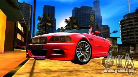 BMW M3 e46 pour GTA San Andreas vue de dessous