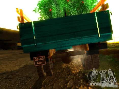 GAZ 53 pour GTA San Andreas sur la vue arrière gauche
