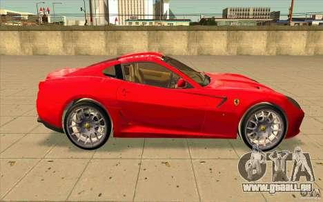 Ferrari 599 GTB Fiorano für GTA San Andreas Rückansicht