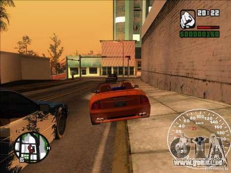 Spyder Cambriocorsa pour GTA San Andreas vue de dessus