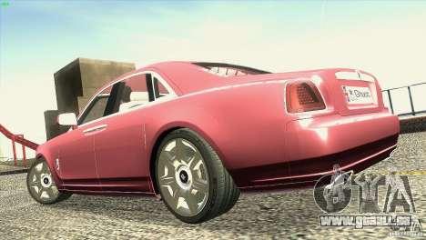 Rolls-Royce Ghost 2010 V1.0 pour GTA San Andreas vue de dessus