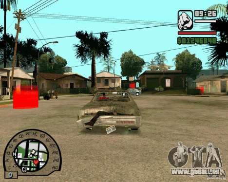 Plymouth Fury III pour GTA San Andreas sur la vue arrière gauche