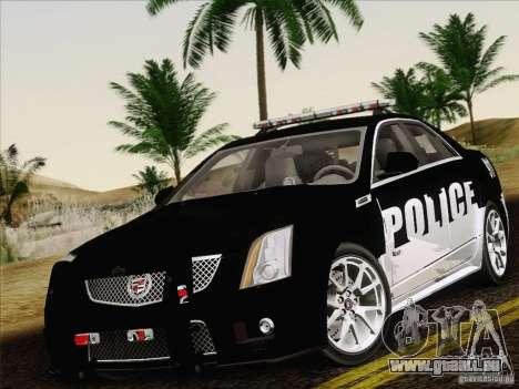 Cadillac CTS-V Police Car pour GTA San Andreas vue de côté