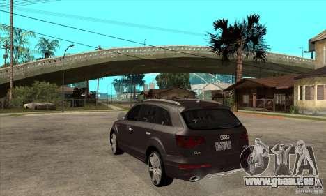 AUDI Q7 V12 V2 für GTA San Andreas zurück linke Ansicht