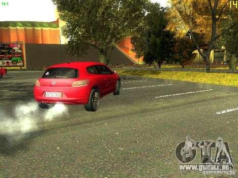 Volkswagen Scirocco 2009 pour GTA San Andreas vue arrière