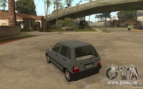Fiat Uno 70s pour GTA San Andreas sur la vue arrière gauche