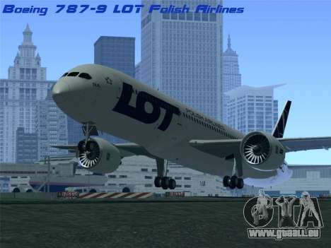 Boeing 787-9 LOT Polish Airlines für GTA San Andreas
