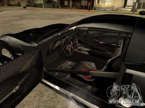 Chevrolet Corvette C6.R für GTA San Andreas zurück linke Ansicht