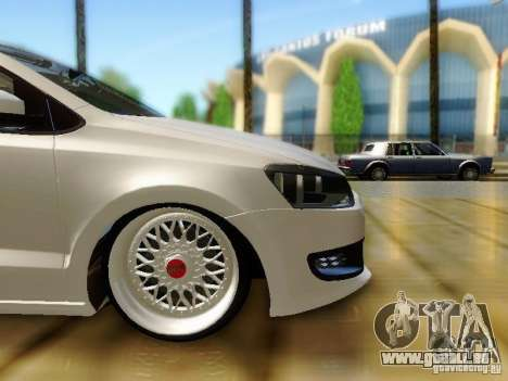 Volkswagen Polo 6R TSI Edit pour GTA San Andreas vue de droite