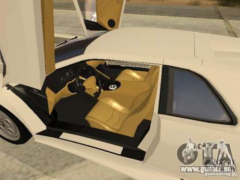 Lamborghini Diablo VT 1995 V2.0 pour GTA San Andreas vue de dessus