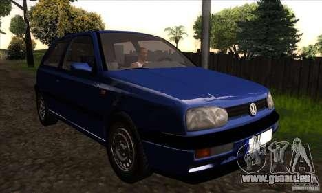 Volkswagen Golf 3 pour GTA San Andreas vue arrière