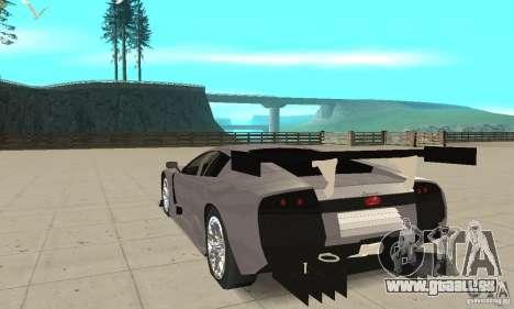 Lamborghini Murcielago R GT pour GTA San Andreas sur la vue arrière gauche