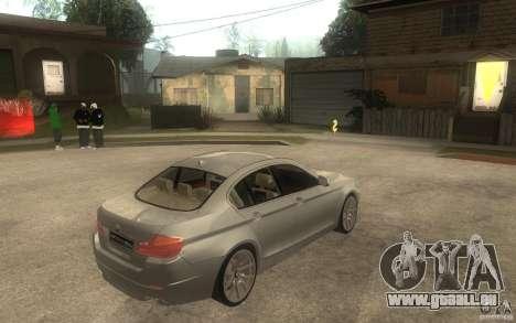 BMW 550i F10 pour GTA San Andreas vue de droite