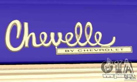 Chevrolet Chevelle SS 1970 pour GTA San Andreas vue de côté