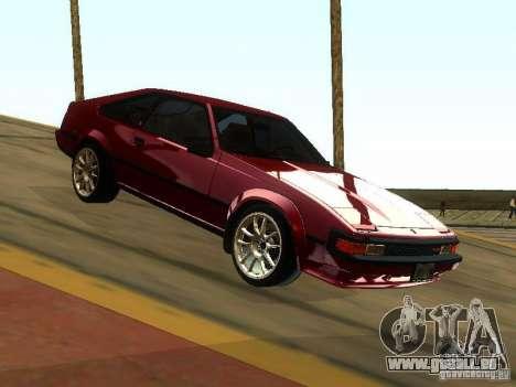 Toyota Celica Supra pour GTA San Andreas vue arrière