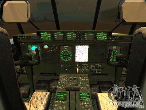 AC-130 Spooky II pour GTA San Andreas vue de côté