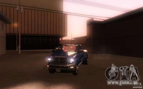 Dodge Ram 3500 Laramie 2010 für GTA San Andreas obere Ansicht