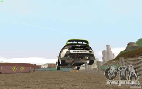 Subaru Impreza WRX Gymkhana2 Beta für GTA San Andreas zurück linke Ansicht