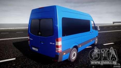 Mercedes-Benz ASM Sprinter Ambulance pour GTA 4 vue de dessus