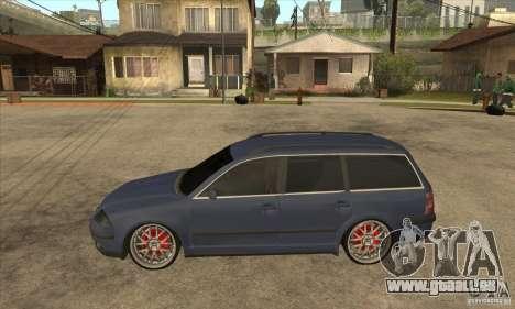 Volkswagen Passat B5.5 2.5TDI 4MOTION pour GTA San Andreas laissé vue