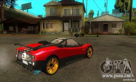 Pagani Zonda Tricolore V1 pour GTA San Andreas vue de droite