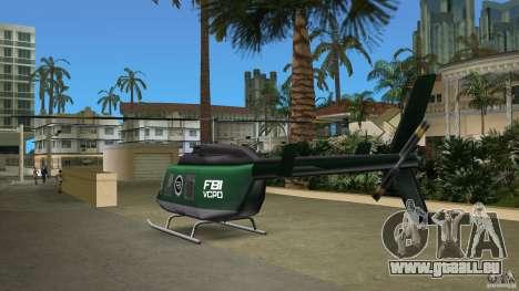 FBI Maverick pour GTA Vice City vue latérale