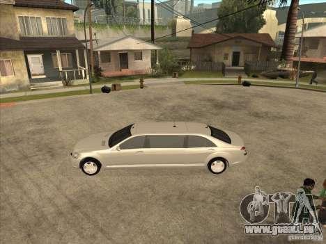 Mercedes-Benz Pullman (w221) SE pour GTA San Andreas sur la vue arrière gauche