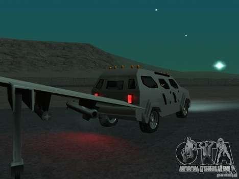 FBI Truck from Fast Five pour GTA San Andreas vue arrière