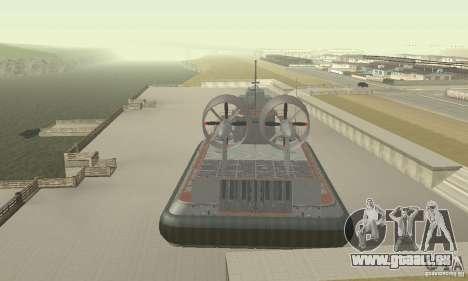 Aéroglisseur pour GTA San Andreas vue arrière
