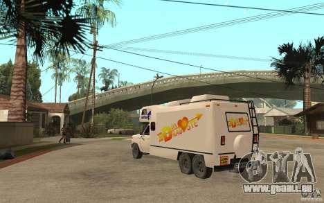 Ford F150 Carvana Dragostei pour GTA San Andreas sur la vue arrière gauche