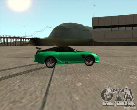 Toyota Supra ZIP style pour GTA San Andreas vue intérieure