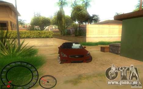 Infiniti G37 Vossen für GTA San Andreas